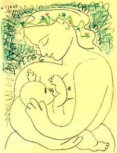 mother-and-child-by-pablo-picasso